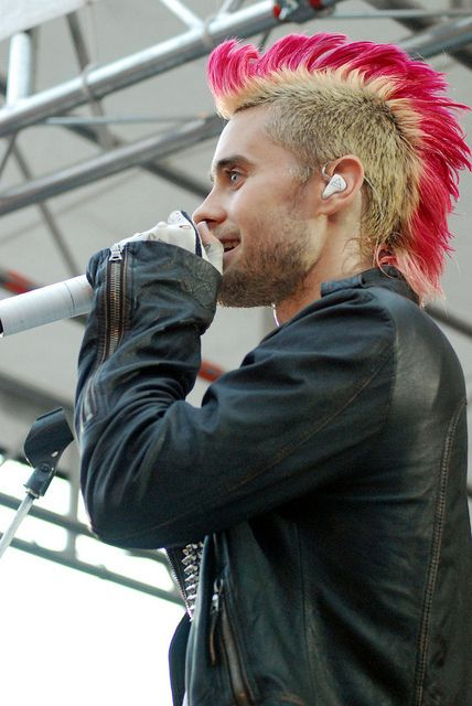 not many guys can pull off a pink mohawk, but boy can he.... he is one beautiful man