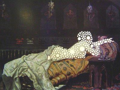 Sousan Luqman - Exotic Transfigurations 'Michetti Transfigured' 37cm x 43cm