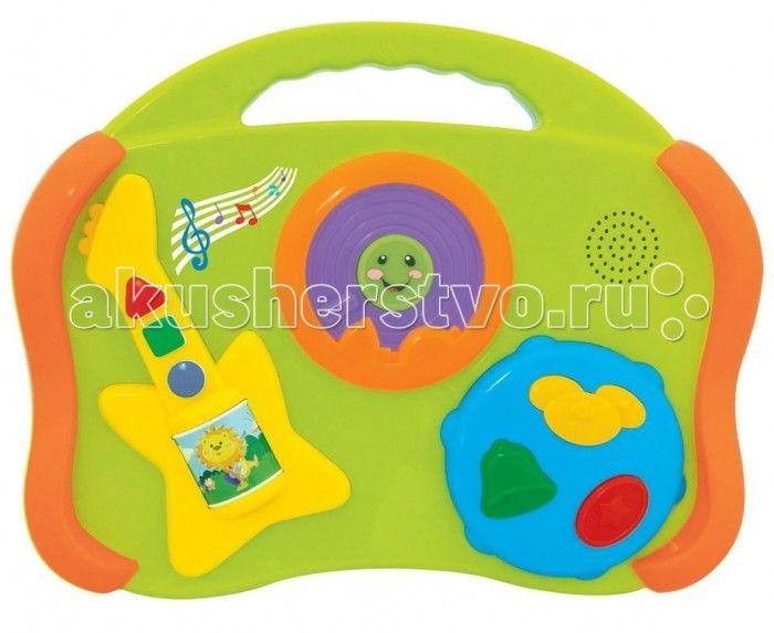 Развивающая игрушка Kiddieland Музыкальные инструменты 6 в 1  Развивающая игрушка Kiddieland Музыкальные инструменты 6 в 1 отличный способ приобщить малышей к музыке с раннего возраста. Кнопки имеют разный цвет и геометрическую форму, что можно использовать для обучения и расширения кругозора малыша.  Игрушка способствует развитию музыкального слуха, чувства ритма, мелкой моторики, цветового восприятия, воображения и фантазии малышей.  В наборе: барабан, пианино, гитара, губная гармошка…