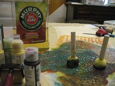 Cleaning your Stencils with murphy's oil soap, great idea!!