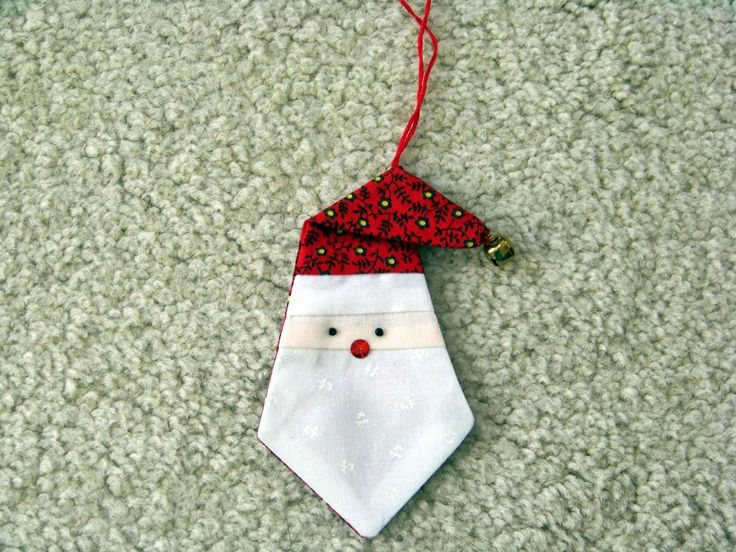 Attic Window Quilt Shop: MAKE THIS SANTA ORNAMENT