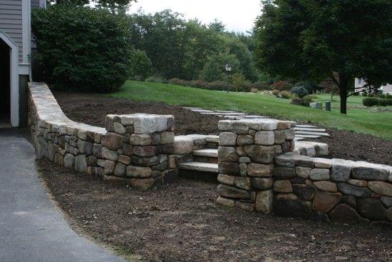 Stone Driveway Entrance Pillars : Driveway entrance pillars this georgetown family s
