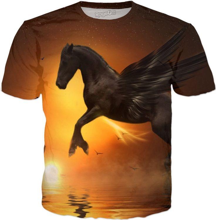 Pegasus and Sunset All Over T-Shirt #erikakaisersot #rageon #tshirt