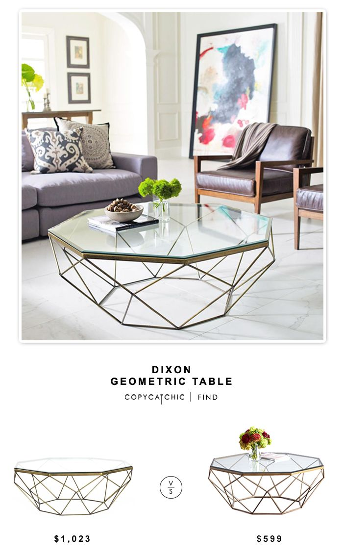 Kathy Kuo Home Dixon Geometric Modern Brass Octagonal Coffee Table $1023 vs Horchow Mystique Coffee Table $599