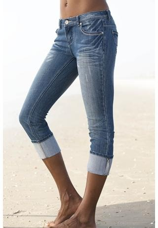 ALMOST FAMOUS® CUFF CROP JEANS