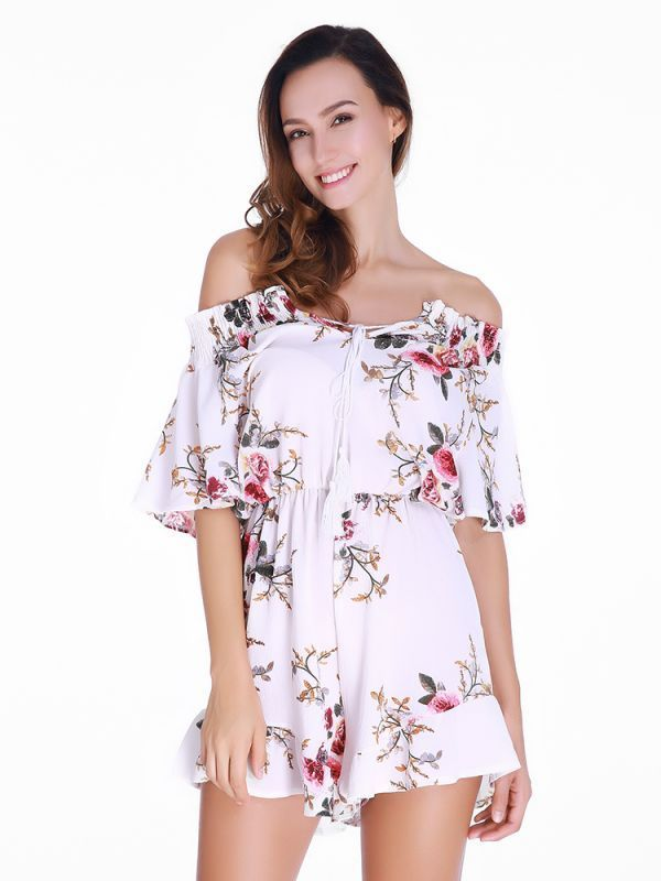 Cheap jumpsuits and playsuits uk sexy women off-the-shoulder ruffle flowers printed short sleeve playsuits #cheap #jumpsuits #and #playsuits #uk #jumpsuits #amp; #playsuits #jumpsuits #amp; #playsuits #online #jumpsuits #or #playsuits