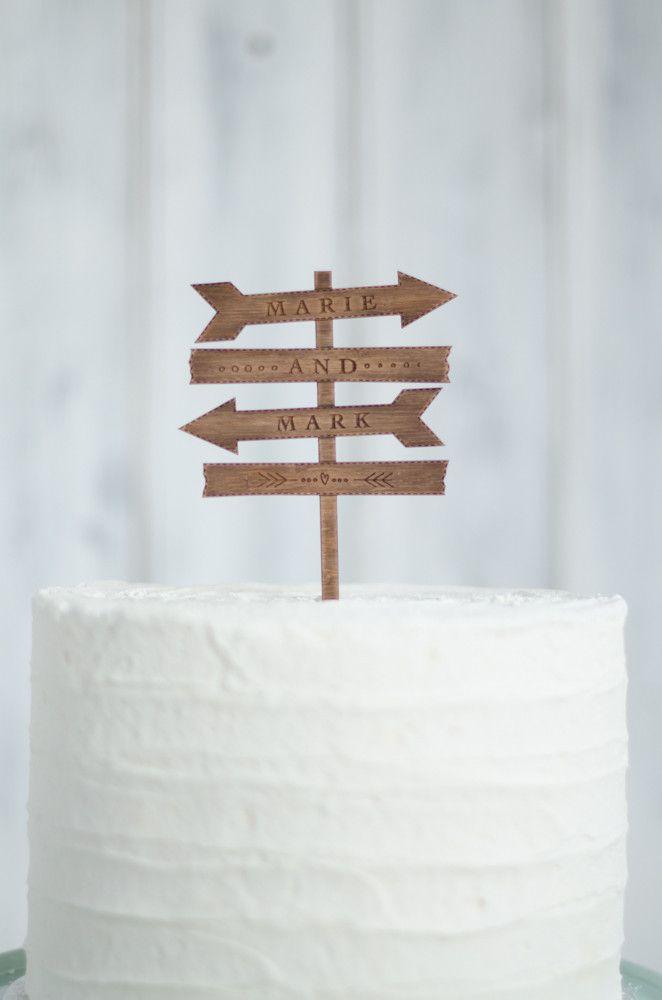 Sign Post Cake Topper
