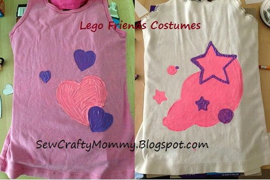 Olivia and Stephanie Lego Friend costumes