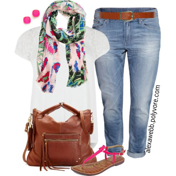 """Plus Size - Summer Casual"" by alexawebb on Polyvore"