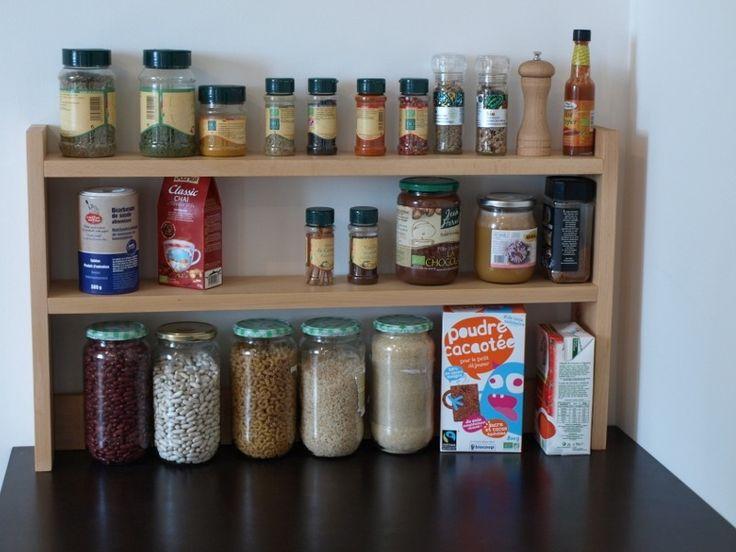Étagère à épices & bocaux | Saine & Écologique