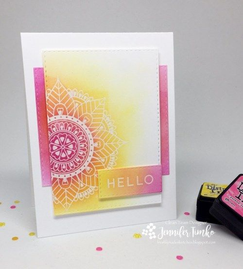FMS278 by Jen Timko | Marvelous Mehndi by Uniko, Hello Lovely by Concord & 9th, Distress Ink, Sponging