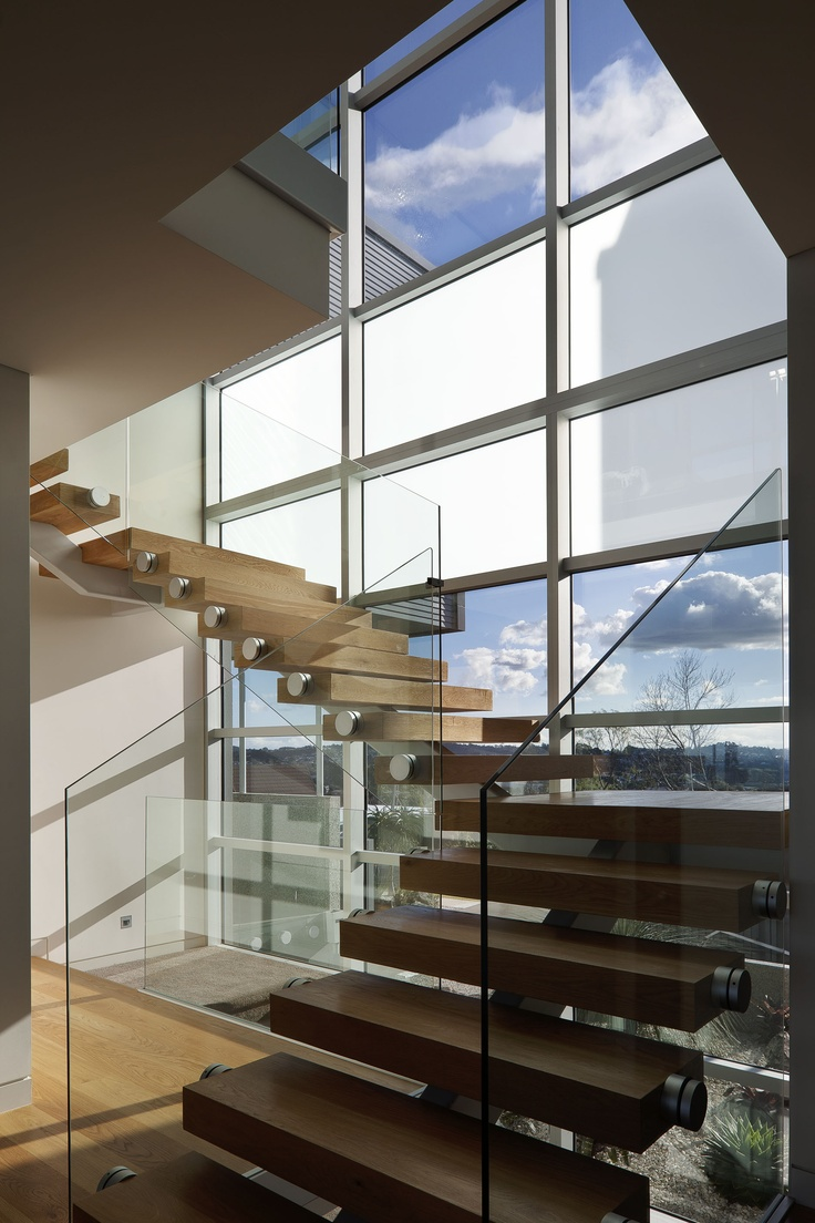 Light entering modern stairwell