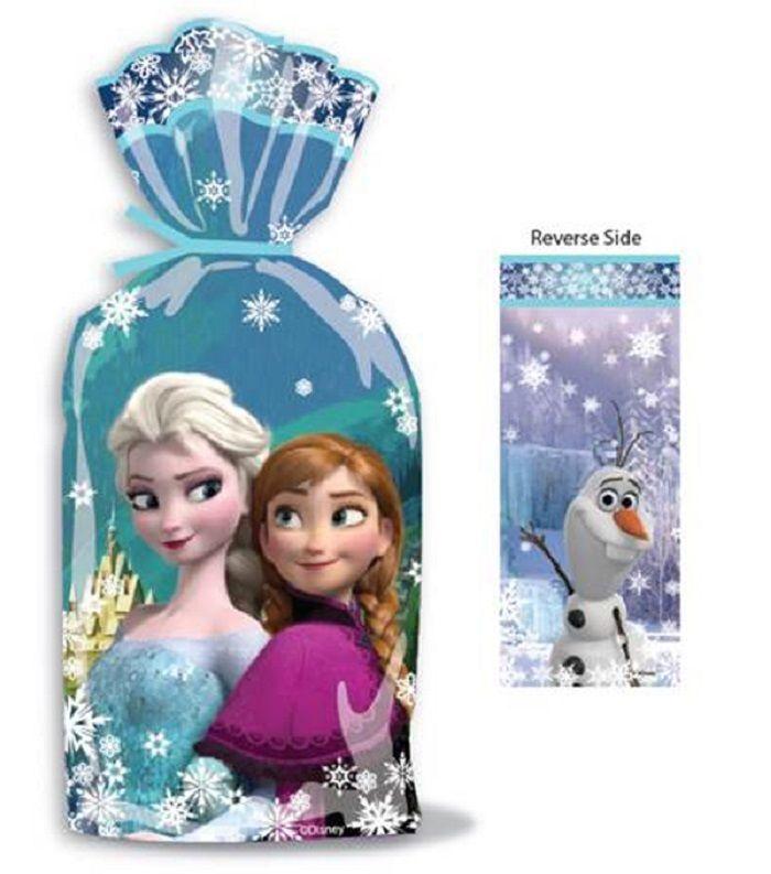 Disney Frozen Birthday Party Treat Bag Cellophane Bag 16/PKG Party Supplies #Disney