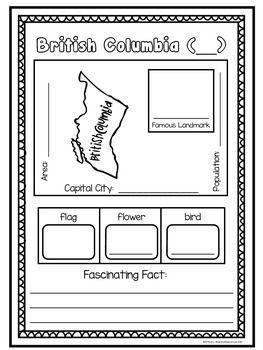 $ Canada Trading Cards: Students select a province to gather information about. Includes trading card templates for all of the provinces and territories.