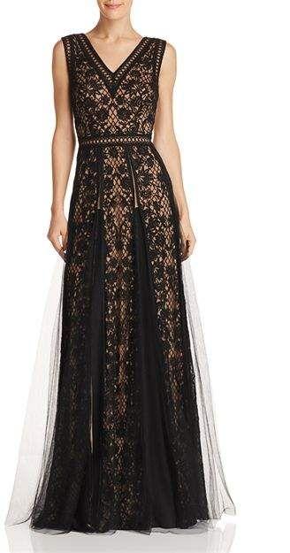 b831d51297e6 Tadashi Shoji Sleeveless Embroidered-Mesh Gown #Sleeveless#Shoji#Tadashi