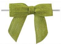 Jute strikken 8 x 6 cm, groen, per stuk - Kimya verpakkingen
