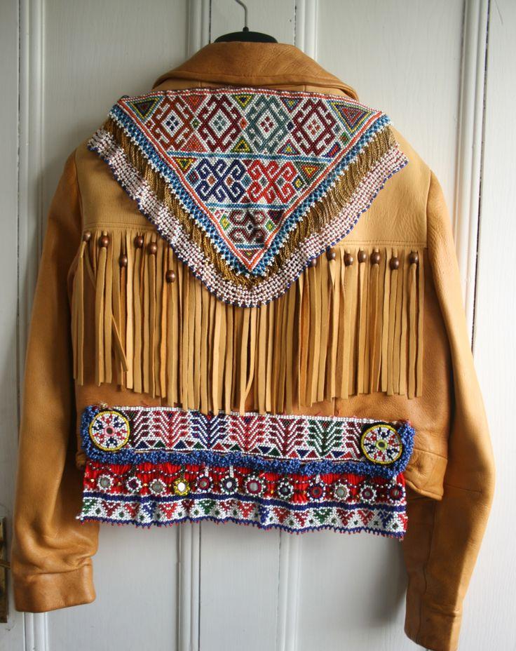 Vintage leather embellished jacket.
