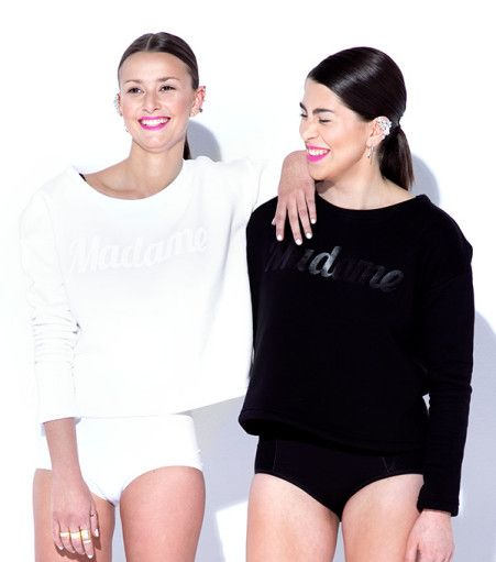 MADAME sweatshirt white/black