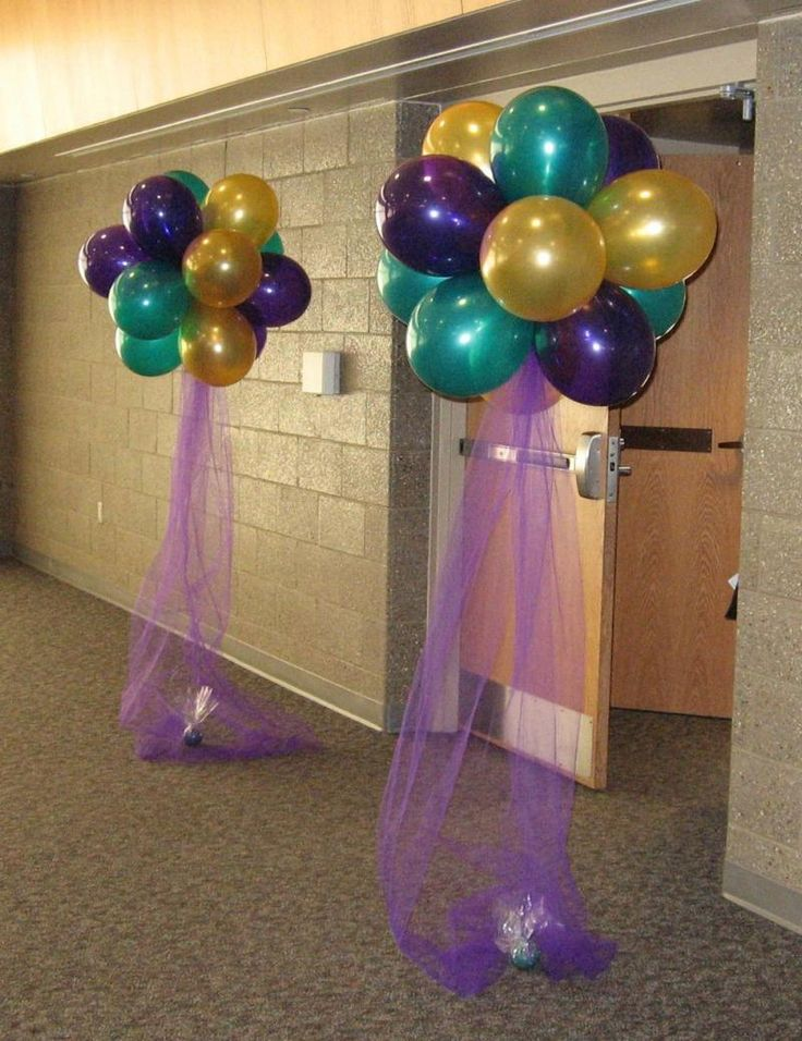 Helium Balloons - Tri-Coloured Cluster | Purple and Gold | Pinterest | Balloons, Balloon Decorations and Party
