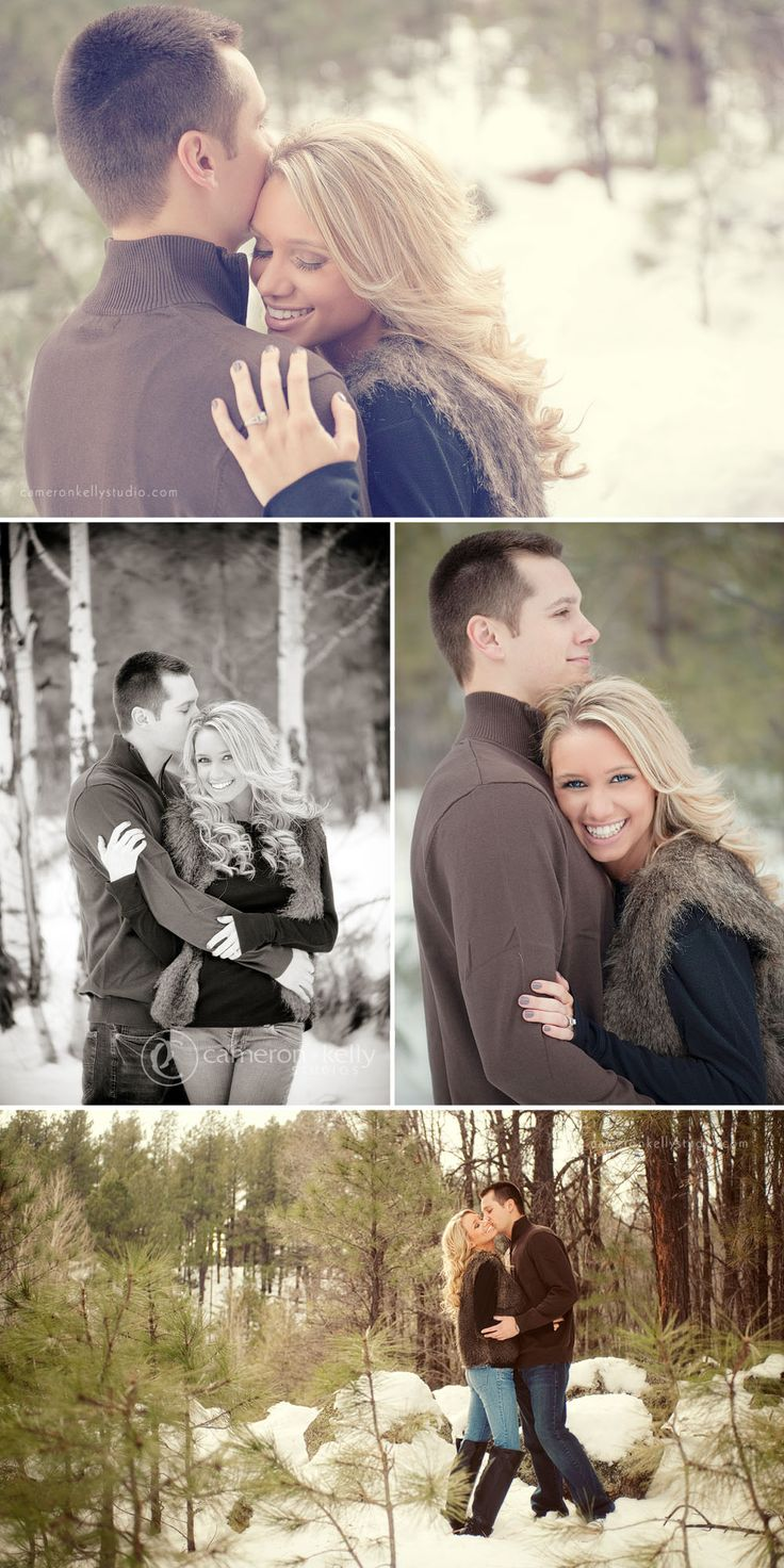 winter engagement session in Flagstaff by Cameron & Kelly Studio gloves, scarves, sweaters, cool barn http:www.cameronkellystudio.com