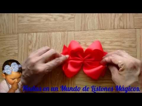 Moño pequeño en tiara de terciopelo VIDEO No. 371 - YouTube