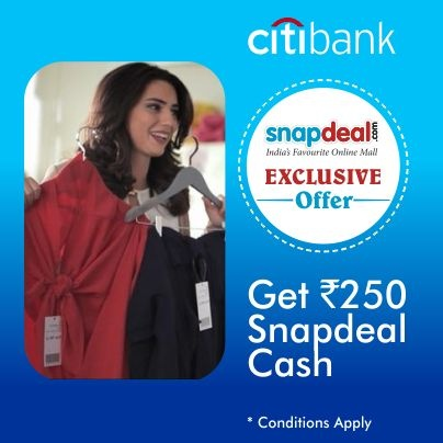 Enjoy this superb offer from the most rewarding banking card!    Apply for Citibank Rewards Credit Card and get SD cash worth Rs 250 free. Not only this, also enjoy Rs 1400 benefits. JUST click on the link, fill in the details & buy the deal:https://www.online.citibank.co.in/products-services/crc-lite-pat/Lite-CRC-Partnership.html?hid=5=snapdeal=SNAPTAG_source=Fbpost_campaign=Delhi_content=1560210_medium=151012_term=Prod