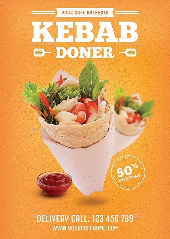 Doner Kebab Flyer – Descargar … póster de comida   – hairy-muff
