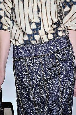 look like batik pattern of indonesia... exercicedestyle:  Dries Van Noten