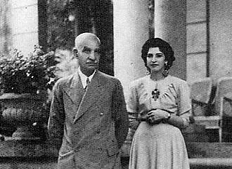 Princess Ashraf Pahlavi and Reza Shah