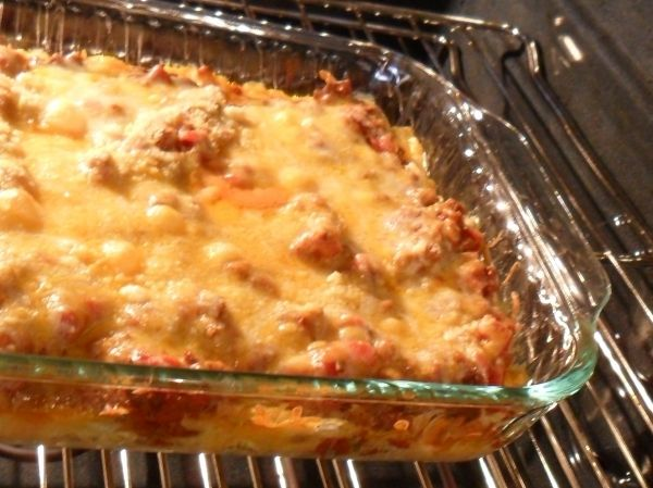 This recipe can be found in many blogs and recipe sites on the Internet - it's really good. I've made it for potluck dinners (no leftovers) and it was even requested by dinner guests (who took the leftovers home!) so I've never gotten a pic other than when it was still in the oven!