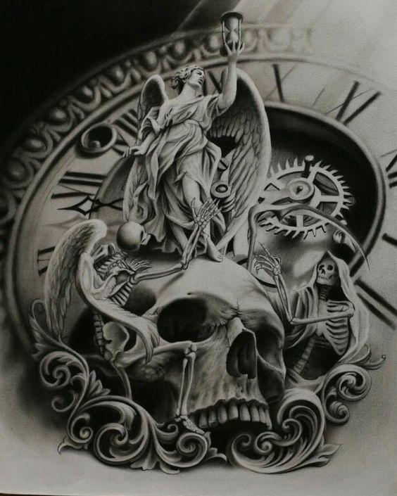 ... crânes étoiles photographie recouvrir art sur le dos art tatouages