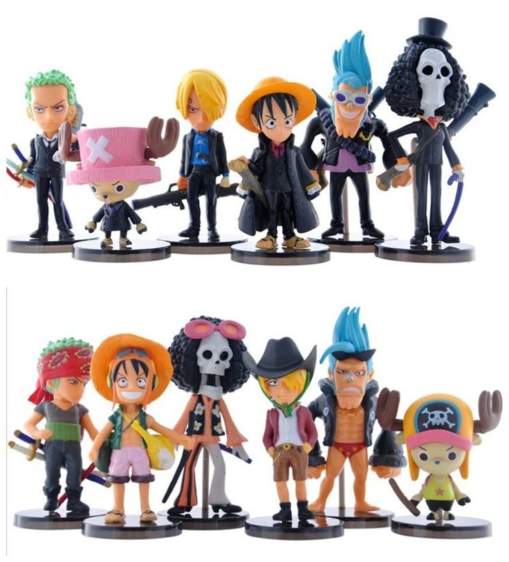 One Piece Figure 6Pcs/Lot 6-9cm 2Styles Japanese Anime One Piece Luffy Zoro Sanji Usopp Franky Chopper Action Figure Model Toys #Affiliate