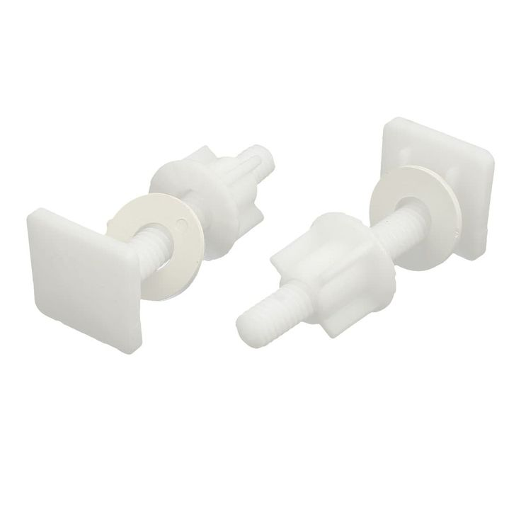27mmx27mmx67mm PP Square Shaped Top Toilet Seat Hinge Bolt White 2pcs