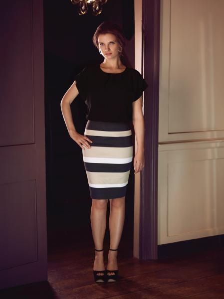 2 fer stripe dress