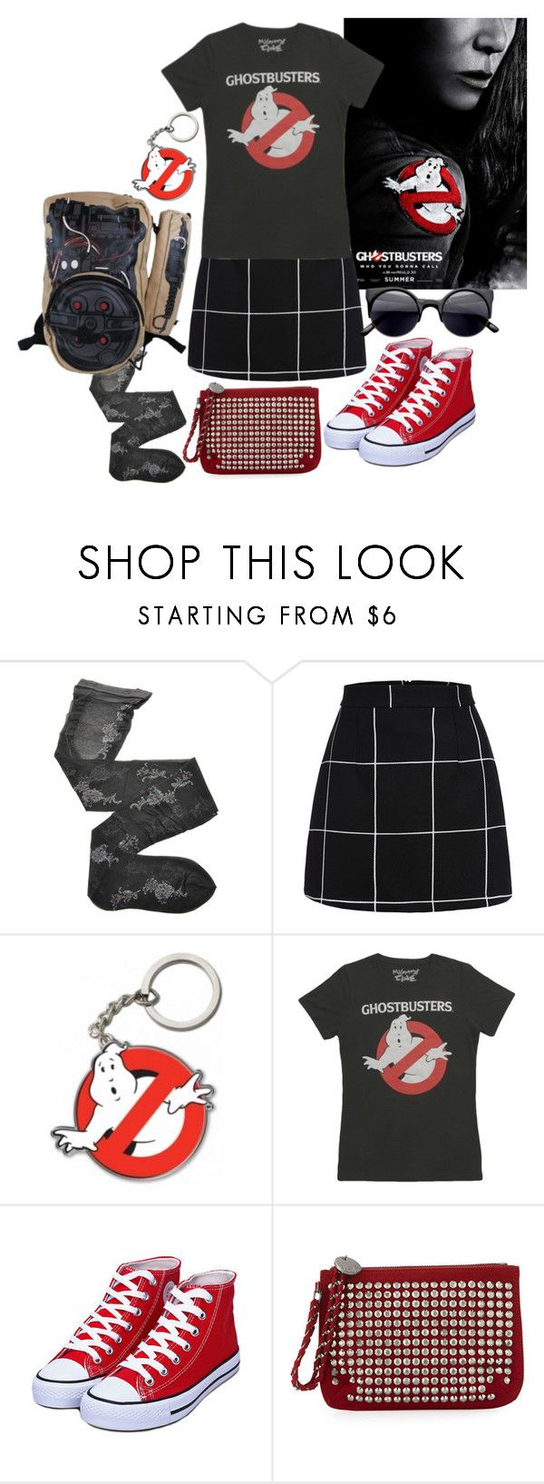"""Ghostbusters 2016"" by kitten89 ❤ liked on Polyvore featuring Fogal and Neiman Marcus"