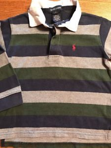 Polo, Ralph Lauren Toddler Boys Size 4T Multi Color Long Sleeve Rugby Shirt  | eBay
