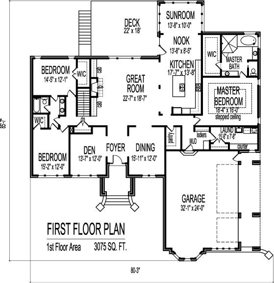 2 Story House Floor Plans With Basement
