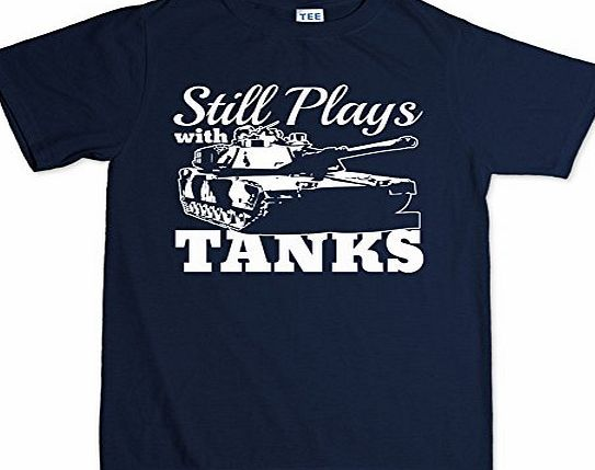 Customised_Perfection Still Plays With Tanks WWII World War of 1939 Panzer T Shirt XL Navy Blue Fascinated with these huge metal monsters of the battlefield? An ex-(or current)tanker? Dedicated to video games that include tank battles? Then this is the t-shirt for you!Made from 100% co http://www.comparestoreprices.co.uk/latest2/customised_perfection-still-plays-with-tanks-wwii-world-war-of-1939-panzer-t-shirt-xl-navy-blue.asp