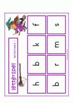 Letterspel Heksen - Letterkaarten 1 t/m 4 Gratis download