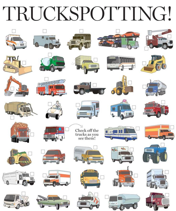road trip truck checklist kids can look at pictures and check off what they find what a fun activity for those long car rides