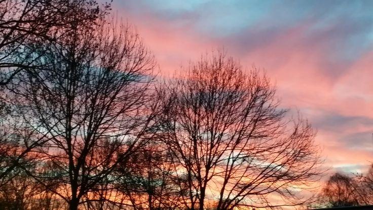 van de week genoten van een mooi uitzicht prachtige roze lucht