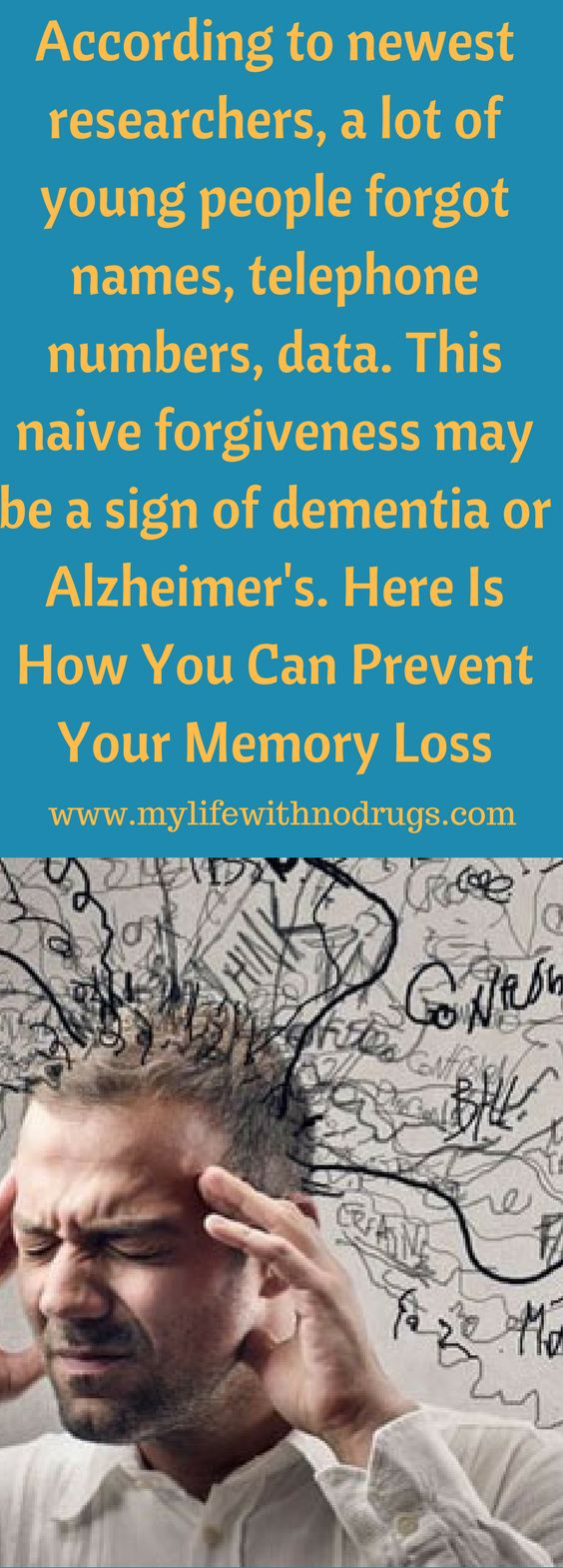 The memory loss, particularly short term memory loss usually is connected with aging.  This is not true. Here Is How You Can Prevent Your Memory Loss