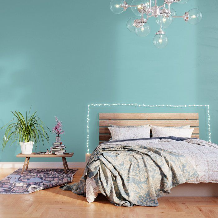Solid Color Light Teal Wallpaper By Shabbyshoparoundthecorner 2 X 4 Teal Wallpaper Blue Colour Wallpaper Turquoise Wallpaper