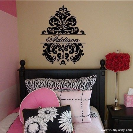Best Wall Decals Images On Pinterest - Custom vinyl wall decals damask