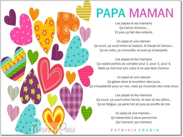 17 best images about f te des m res on pinterest madagascar french quotes and belle - Poeme de noel pour maman et papa ...