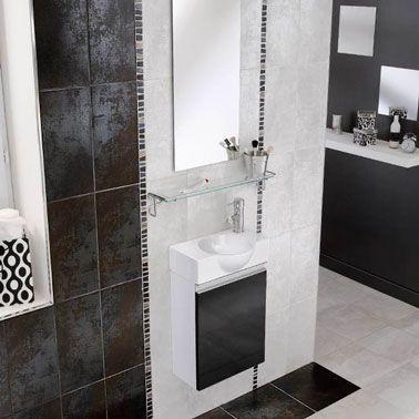 Carrelage mural salle de bain aspect m tallis lapeyre for Faience salle de bain lapeyre