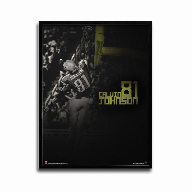 Detroit Lions Calvin Johnson Slam Dunk 24x18 Football Poster