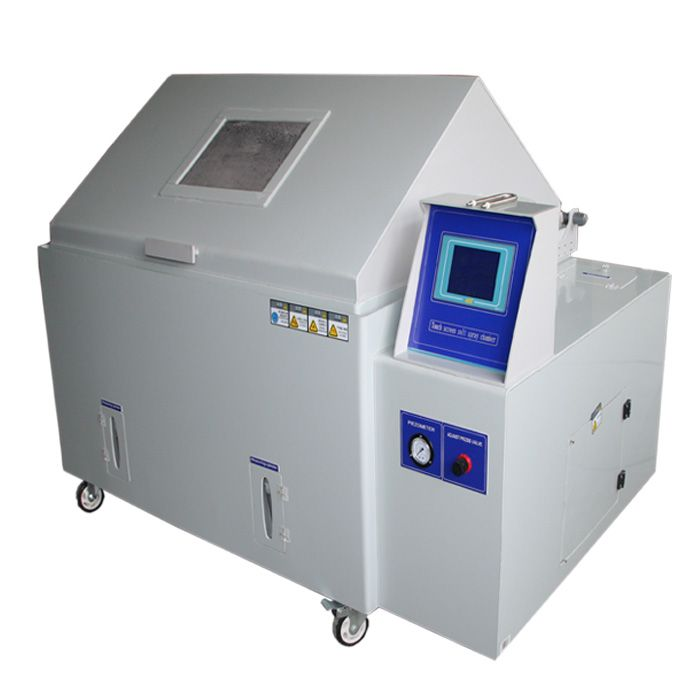 Salt spray test chamber is specialized to test the performance of the products for its surfaces of various materials after treatment of corrosive protection by means of painting, coating, galvanizing, anodizing and of lubricant. #saltspraytestchamber #saltspraycorrosiontestchamber #cámaradepruebadesal