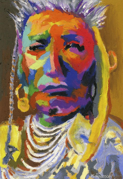Proud Native American 2 by Stephen AndersonPainting Portraits, Indian Portraits, Stephen Anderson, Native Americans, Native Beautiful, Native American Painting, American Arts Crafts, Indian Stuff, Portraits Visual