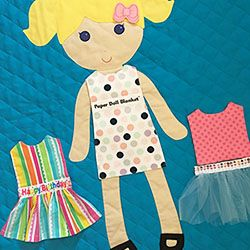Paper Doll Blanket is a keepsake kids' blanket built for lots of play.  You can change her clothes!  Customize the doll's hair, skin, eyes...  for a gift that is truly unique.